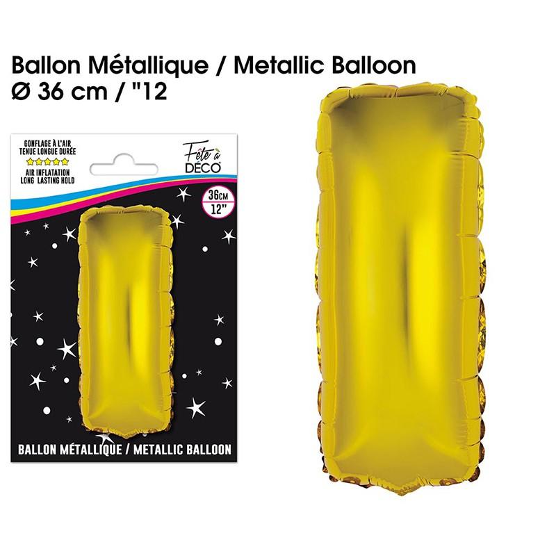 BALLON METALLIQUE OR LETTRE I