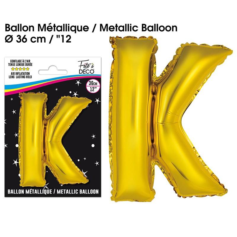BALLON METALLIQUE OR LETTRE K