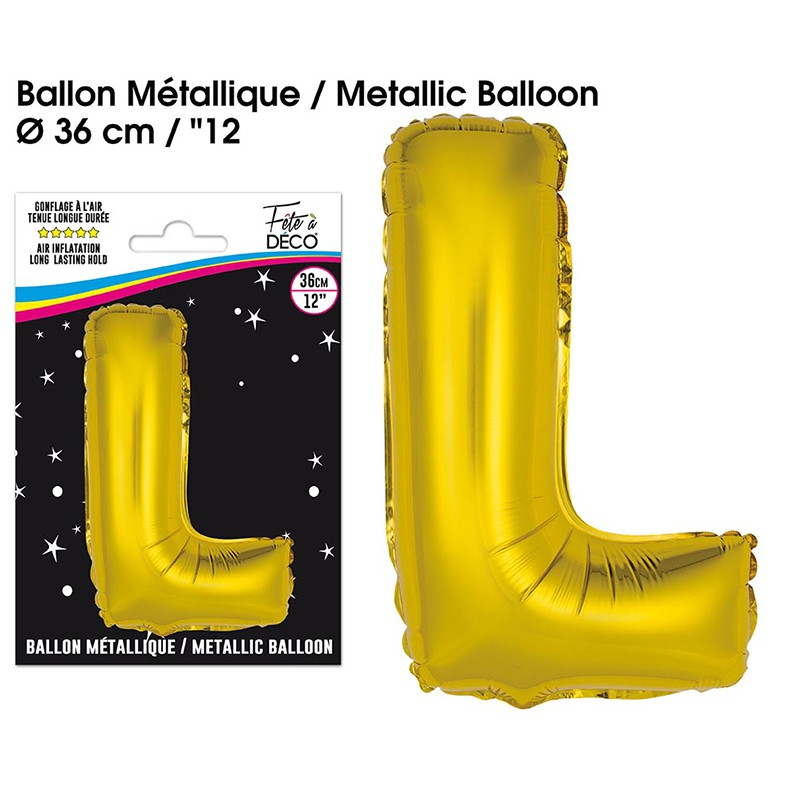 BALLON METALLIQUE OR LETTRE L