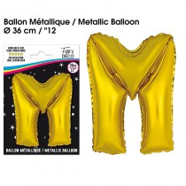 BALLON METALLIQUE OR LETTRE M