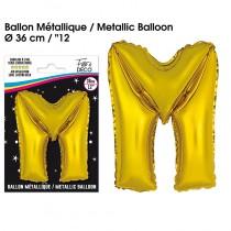BALLON METALLIQUE OR LETTRE M
