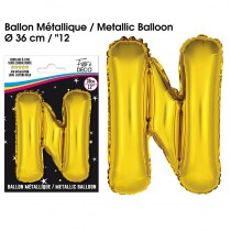 BALLON METALLIQUE OR LETTRE N