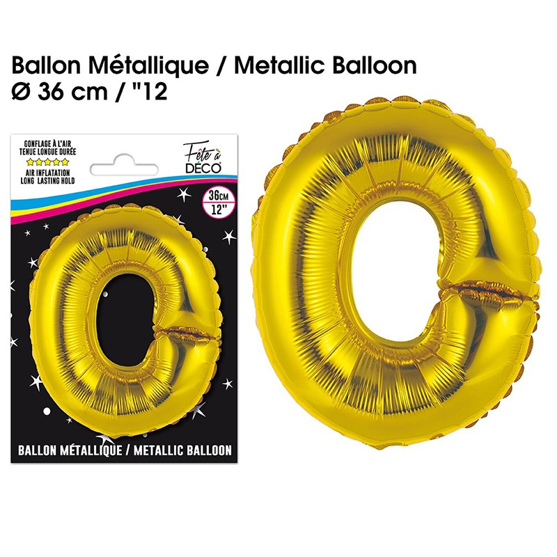BALLON METALLIQUE OR LETTRE O