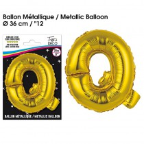 BALLON METALLIQUE OR LETTRE Q