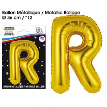 BALLON METALLIQUE OR LETTRE R