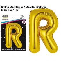 BALLON METALLIQUE OR LETTRE R