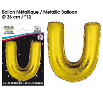 BALLON METALLIQUE OR LETTRE U