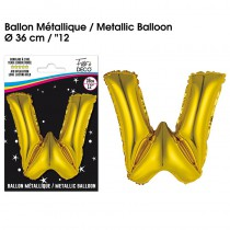 BALLON METALLIQUE OR LETTRE W
