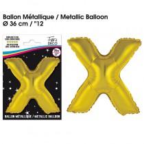 BALLON METALLIQUE OR LETTRE X