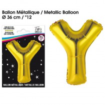 BALLON METALLIQUE OR LETTRE Y