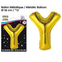 BALLON METALLIQUE OR LETTRE Y