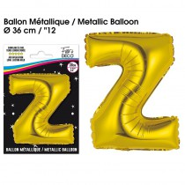 BALLON METALLIQUE OR LETTRE Z