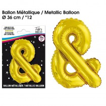 BALLON METALLIQUE OR SIGLE &