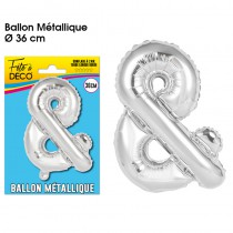 BALLON METALLIQUE SIGLE &