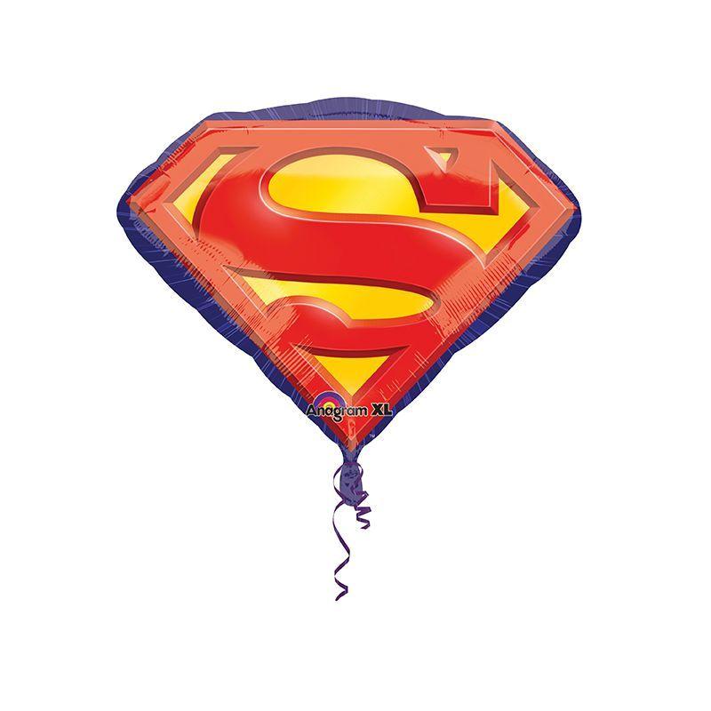 BALLON SUPERMAN EMBLEM + HÉLIUM