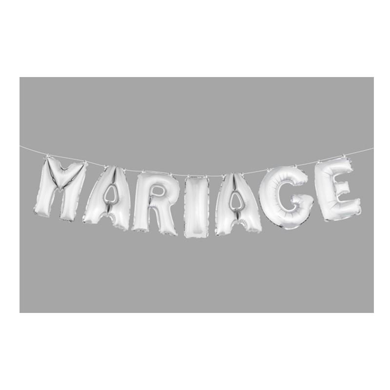 BALLONS MARIAGE ARGENT 36CM