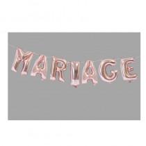 BALLONS MARIAGE ROSE GOLD 36CM