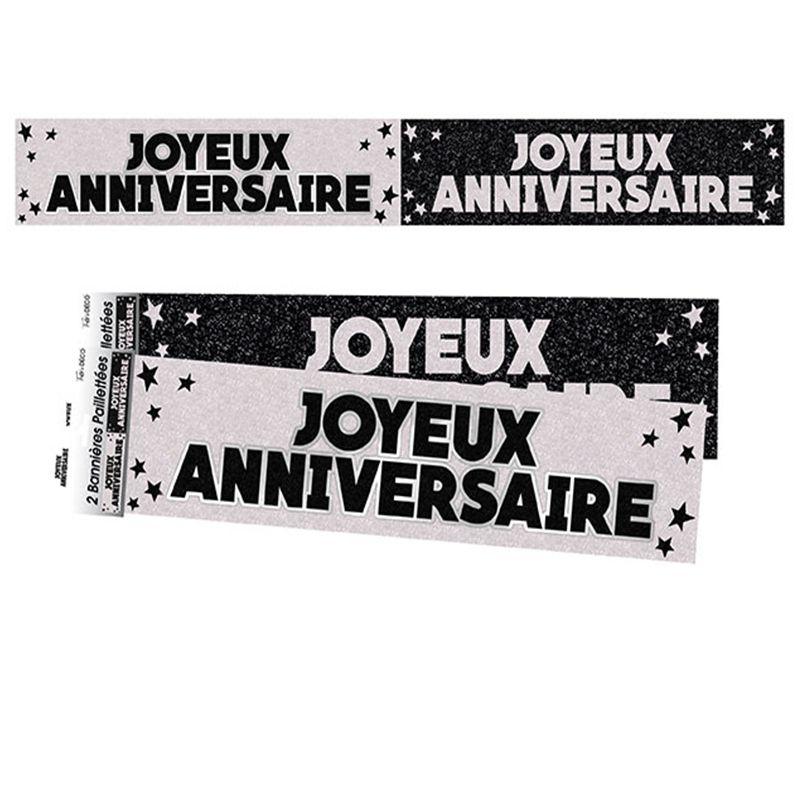 BANNIERES JOYEUX ANNIVERSAIRE NOIRES