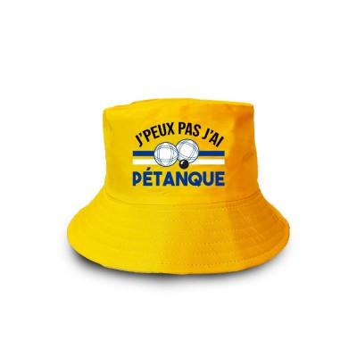 BOB JAUNE ADULTE J\'PEUX PAS J\'AI PÉTANQUE