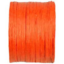 BOBINE DE RAPHIA 4MM*20M - ORANGE