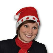 bonnet noël flocon rouge