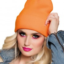 BONNET ORANGE FLUO ADULTE
