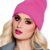 BONNET ROSE FLUO ADULTE