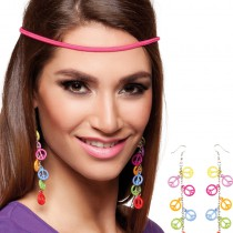 BOUCLES D'OREILLES PEACE & LOVE ADULTE