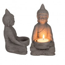 BOUGEOIR CIMENT BOUDDHA 15 CM