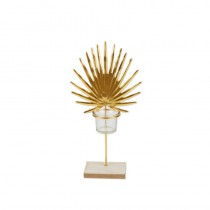 BOUGEOIR PALME 16.5X32CM + POT VERRE