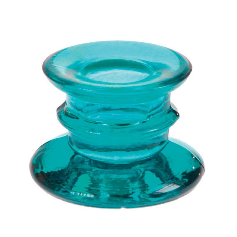 bougeoir suède turquoise