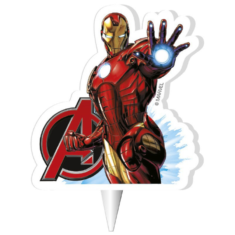 BOUGIE 2D IRON MAN™ 7,5 CM