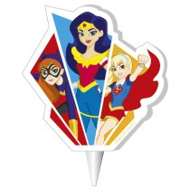 BOUGIE 2D SUPER HERO GIRLS™ 7,5 CM
