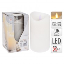 BOUGIE BLANCHE LED 7,5X15CM