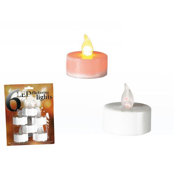 6 bougies chauffe plat led 4 x 4 cm bougie chauffe plat. Black Bedroom Furniture Sets. Home Design Ideas
