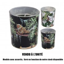 BOUGIE JUNGLE NOIR 8.4CM 2ASS