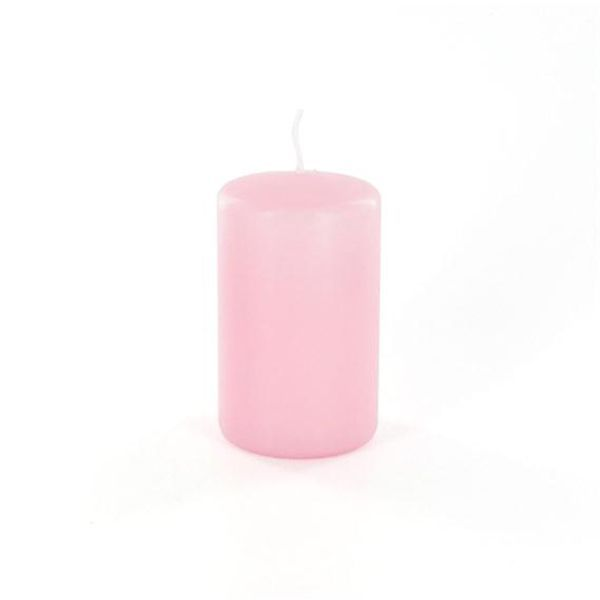 bougie rose cylindrique 7h