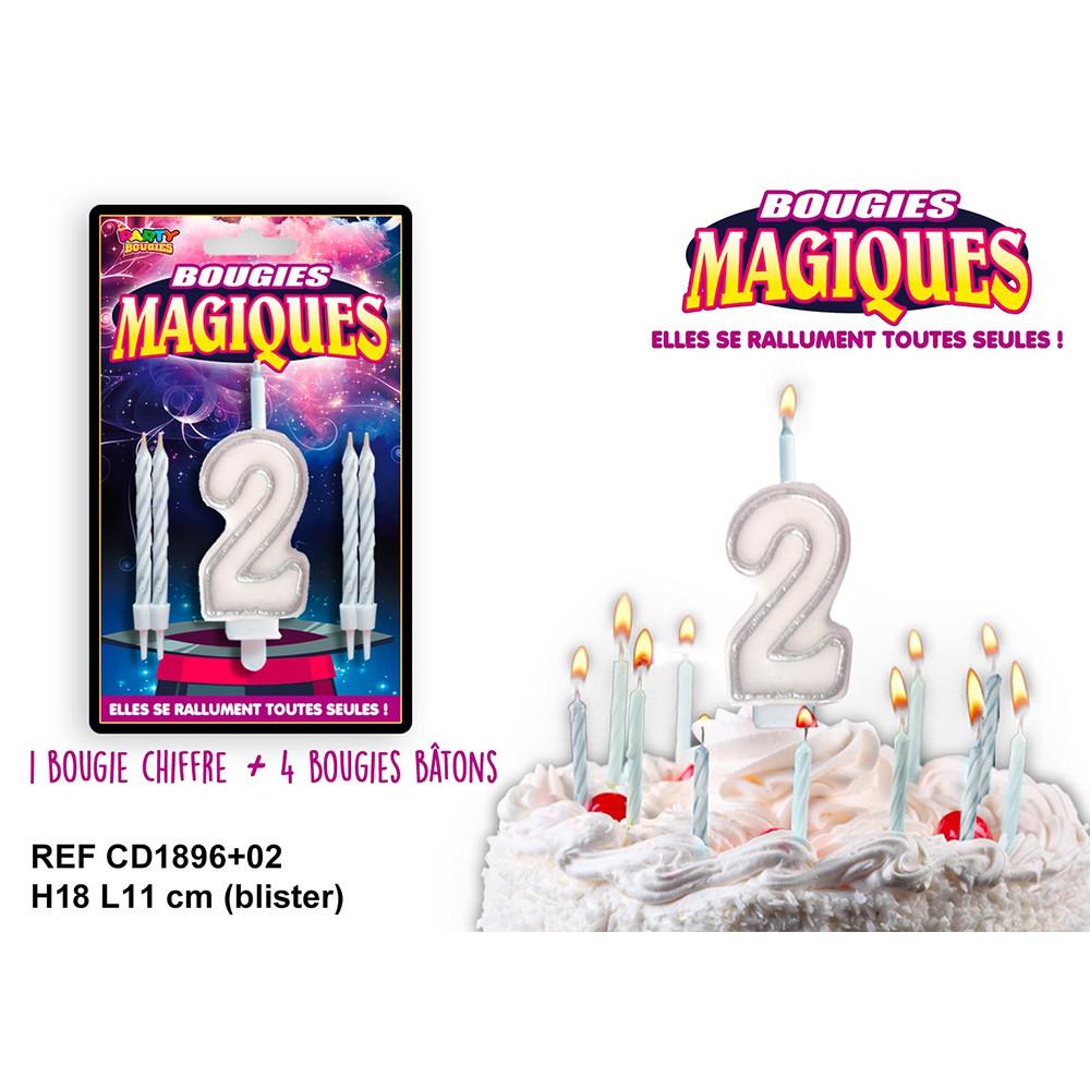 BOUGIES MAGIQUES CHIFFRE 2