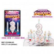 BOUGIES MAGIQUES CHIFFRE 3