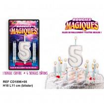 BOUGIES MAGIQUES CHIFFRE 5