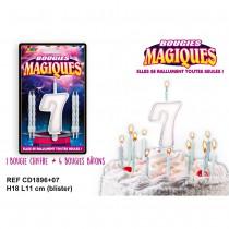 BOUGIES MAGIQUES CHIFFRE 7