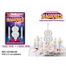 BOUGIES MAGIQUES CHIFFRE 8