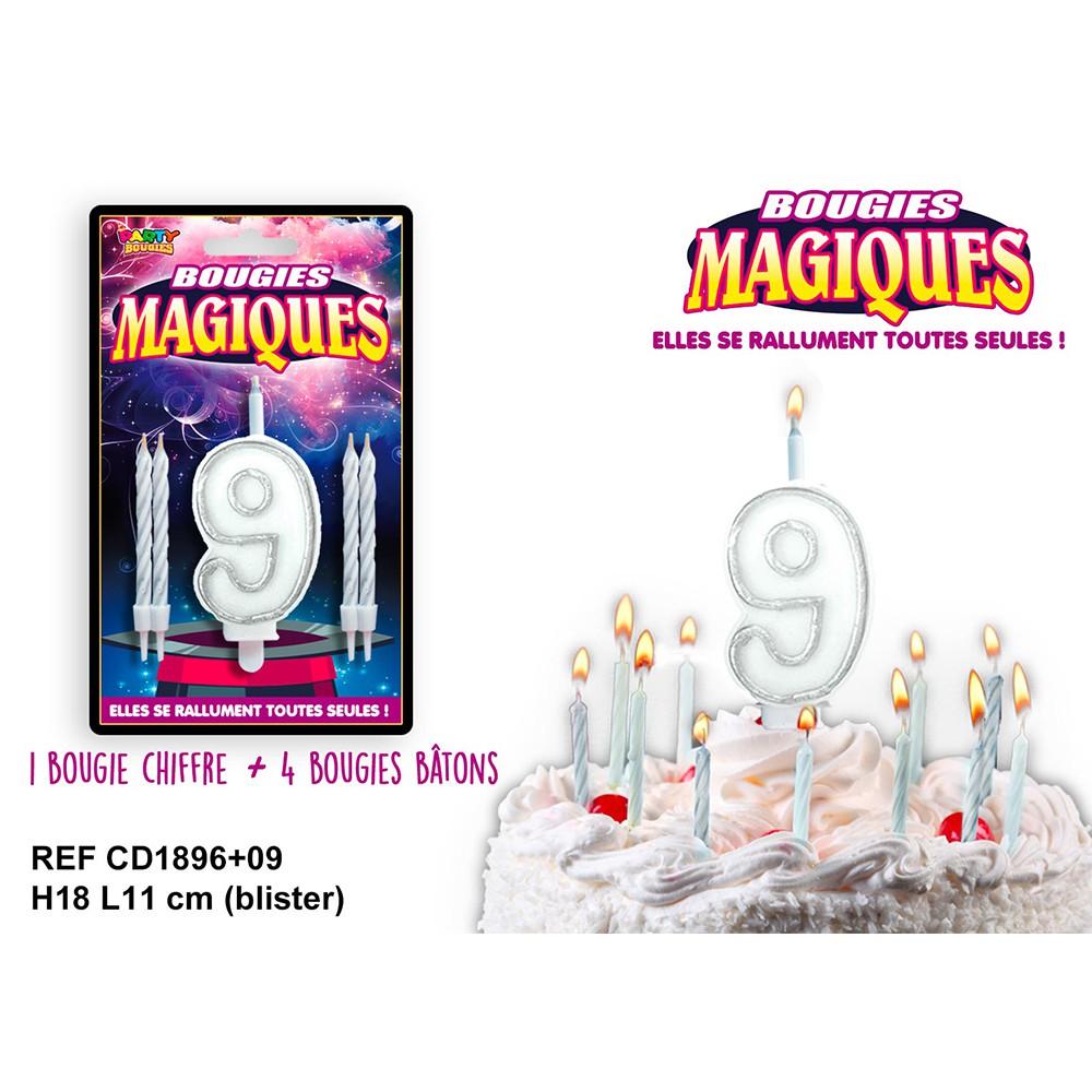 BOUGIES MAGIQUES CHIFFRE 9