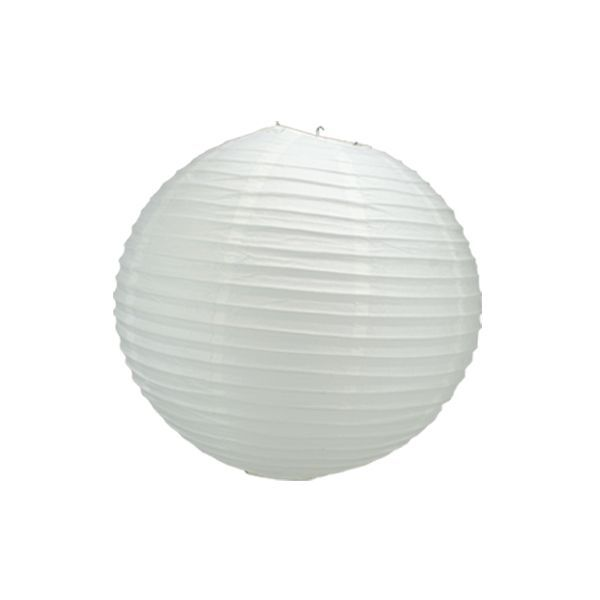 boule chinoise blanche 30 cm