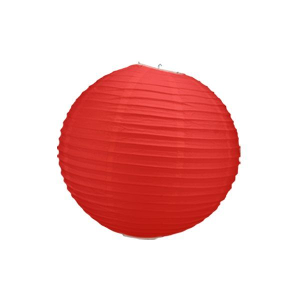 boule chinoise rouge 30 cm
