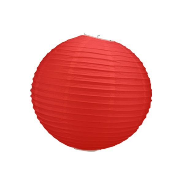 boule chinoise rouge 40 cm