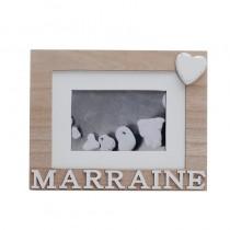 CADRE MARRAINE NATUREL 22 X 18 CM