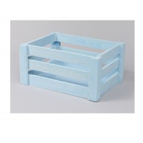 CAISSE BOIS RECTANGLE BLEU PM