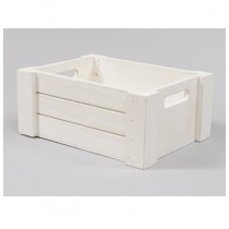 CAISSE RECTANGLE BLANCHE BOIS GM