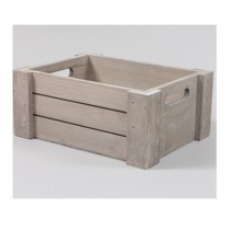 CAISSE RECTANGLE GRIS BOIS PM